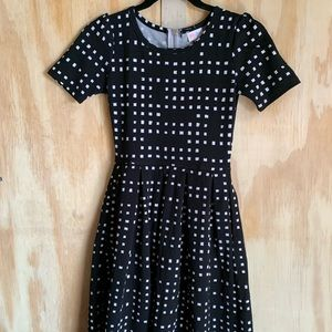 Lularoe Amelia dress XXS black and white